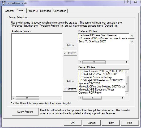 ScrewDrivers Client v4 with Citrix Web Client