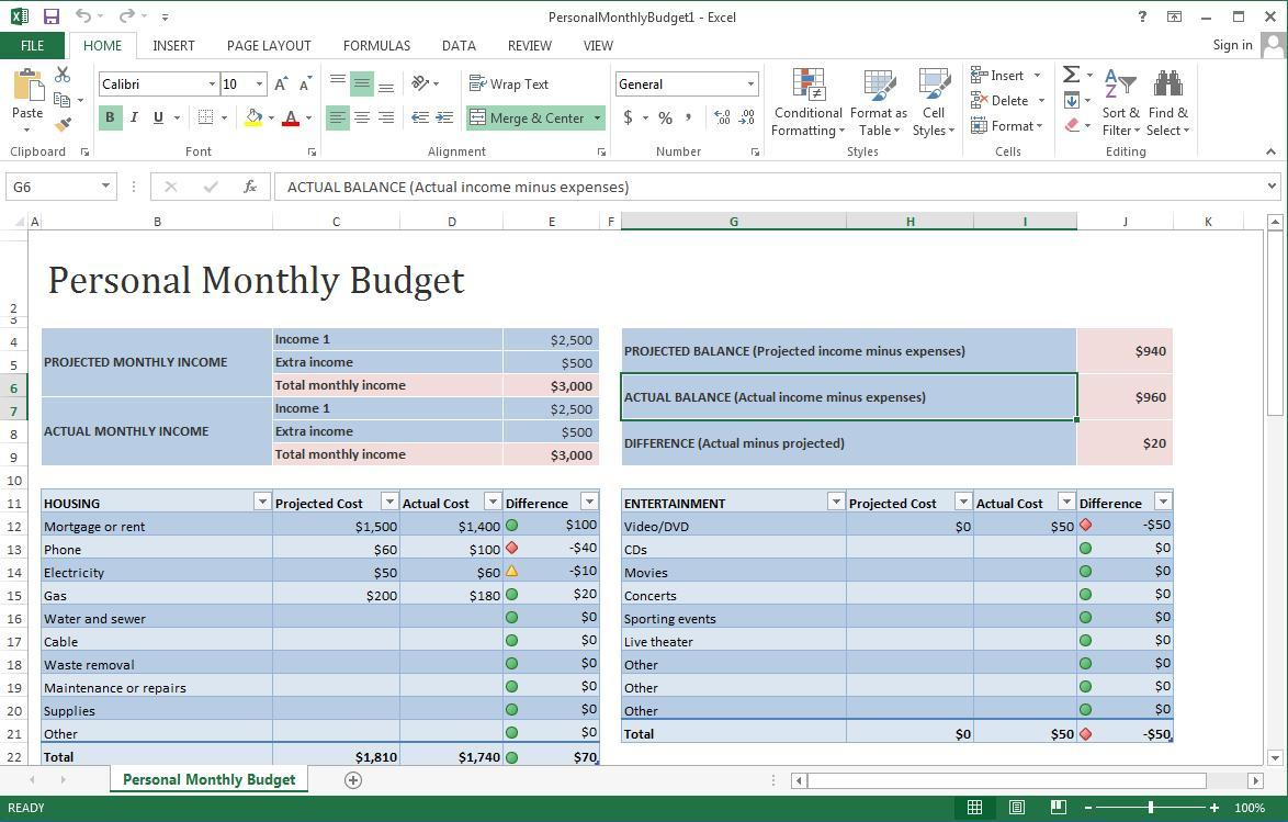 Excel Project Window