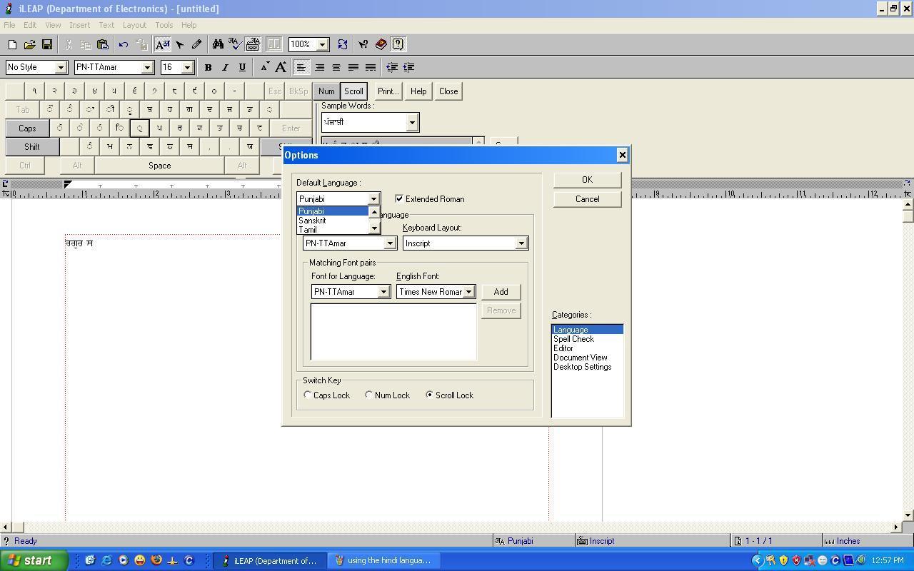 ileap telugu software