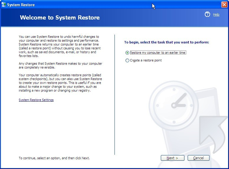 Creating Restore Points