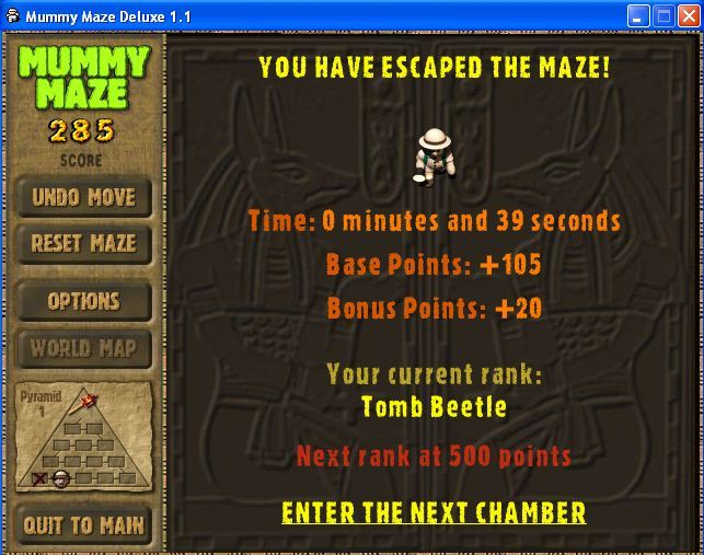 Maze completed