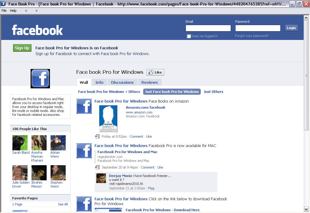 Facebook Pro for Windows