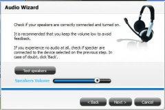 Audio Wizard Window