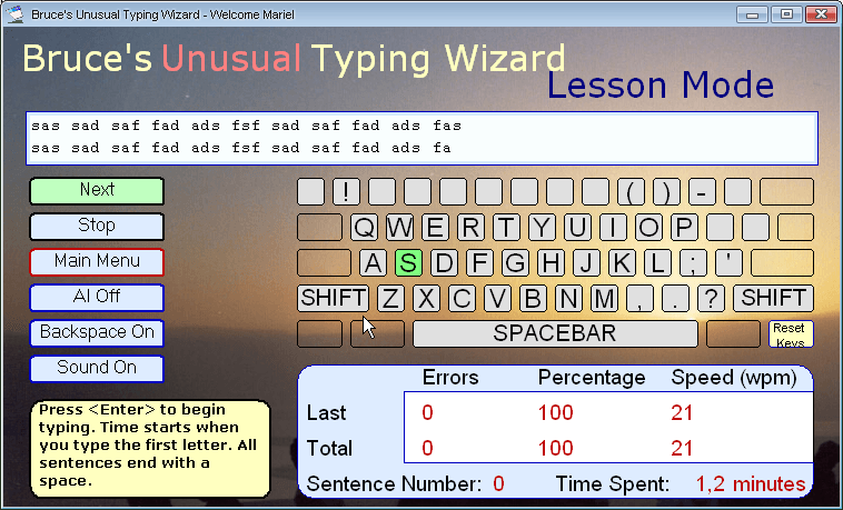 Lesson Mode