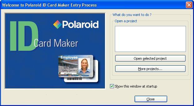 polaroid id card maker entry software informer screenshots