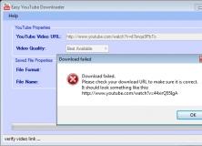 Error when downloading a video