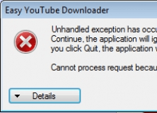 Error when trying to cancel a download