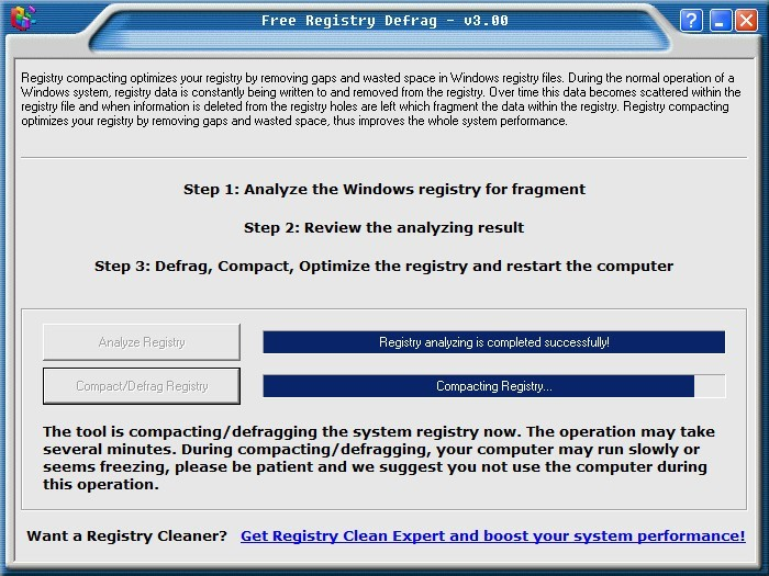 Compacting The Registry