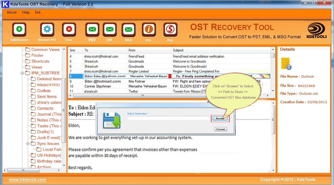 OST to PST Converter FREE Preview