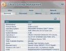 Acer eSettings Main