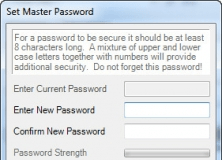 Setting Master Password