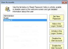 User Accounts CP