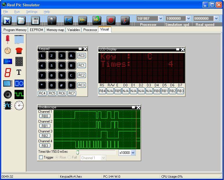 Keypad example
