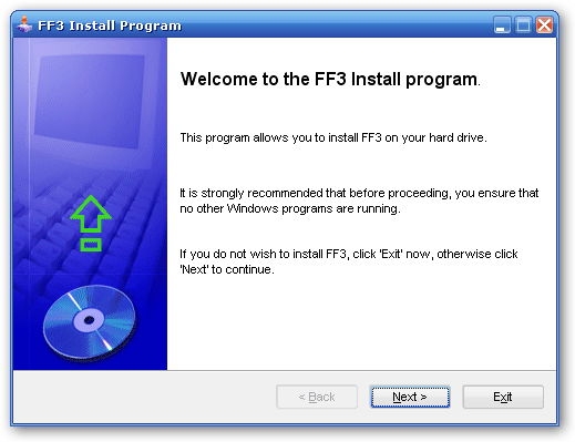 Sample of installation package