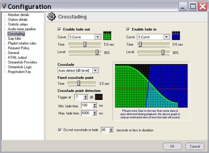 Configuration - Crossfading