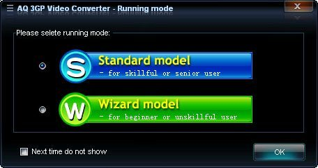 Running Mode Selection