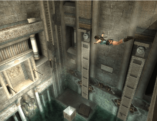 Lara´s ability to swan-dive into water to avoid injury