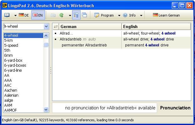 German To English Mode