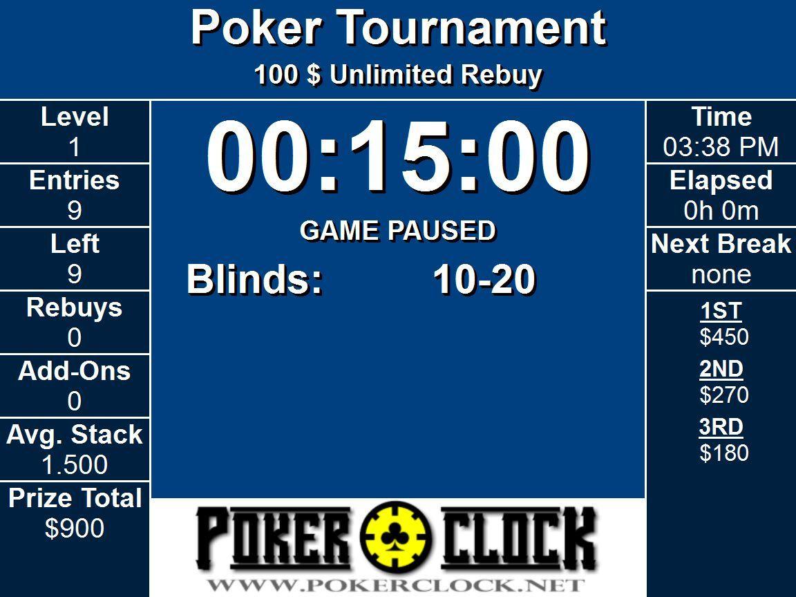 poker timer