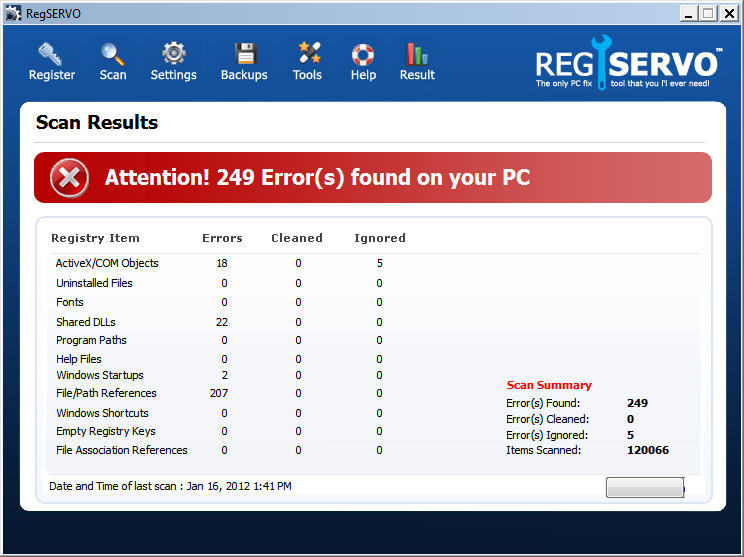 Results Window