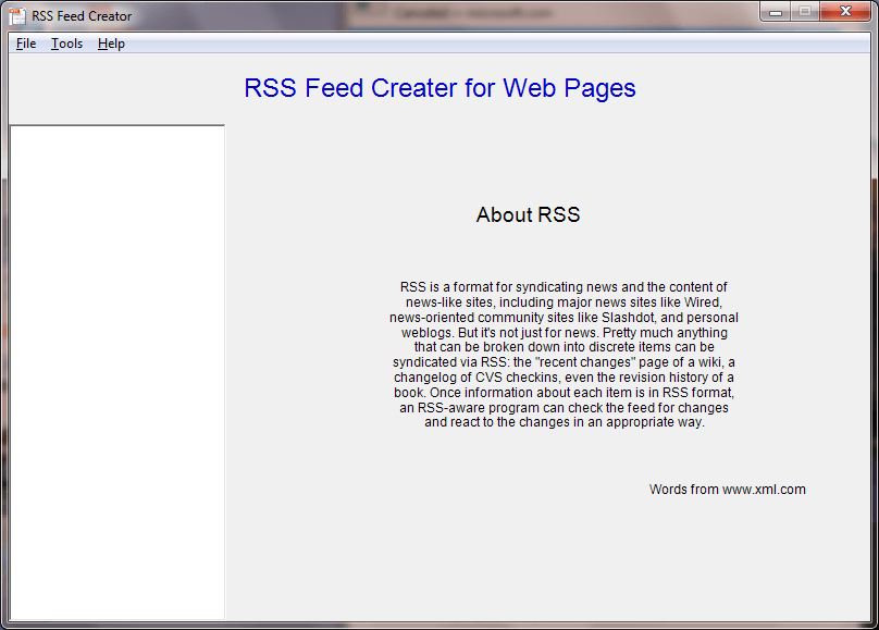 RSS Feed Creator