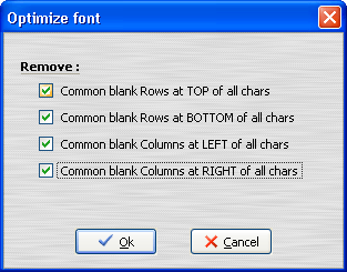 Optimize Fonts window
