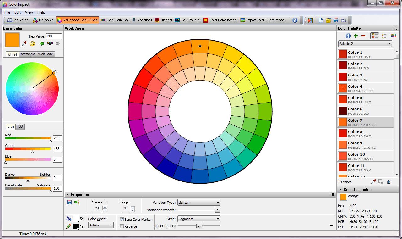 Advanced color wheel