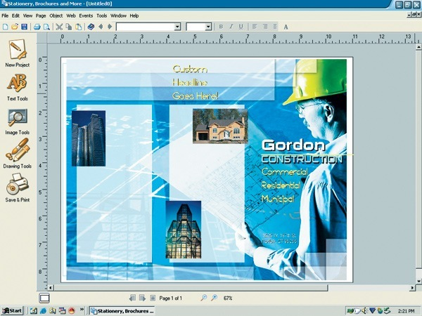 Stationery and brochure maker software informer screenshots for Brochure maker online