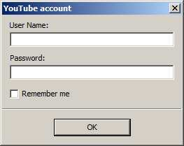 Adding the YouTube account
