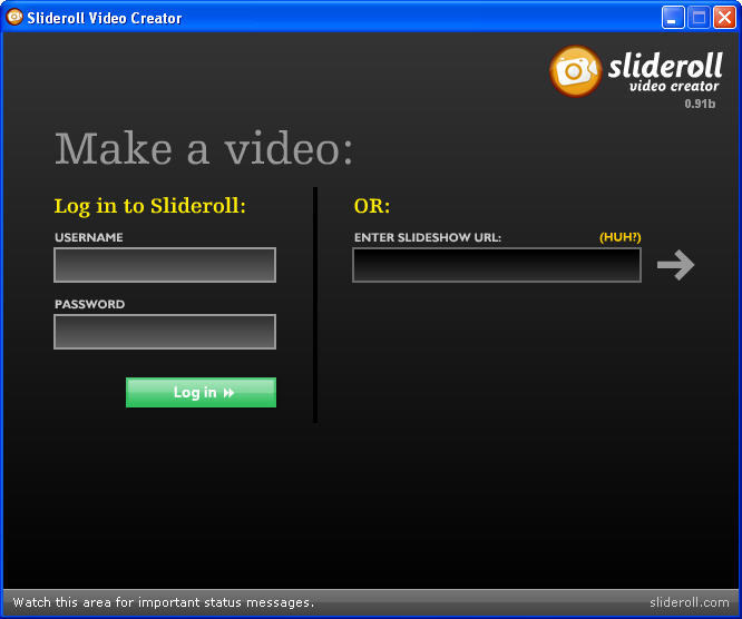 Slideroll Video Creator for Mac 0.91b full
