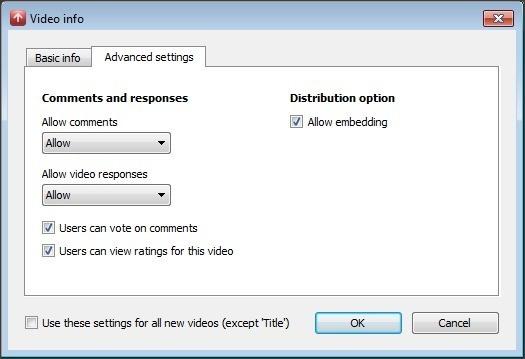 Video Advanced Settings
