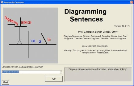 Diagramming sentences download diagramexe main interface ccuart Choice Image