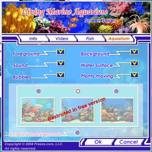 aquarium settings