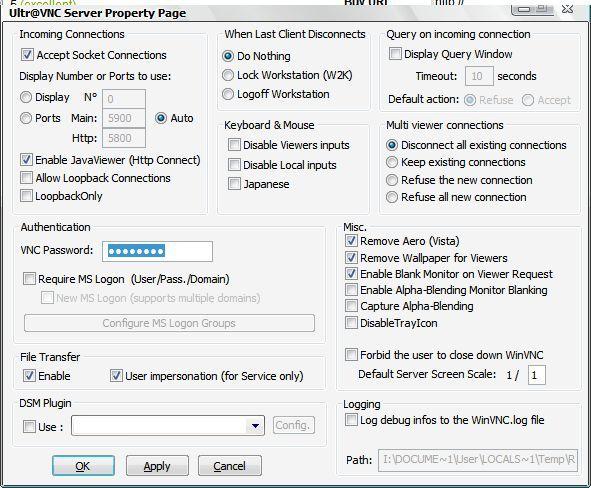 Server configuration editior