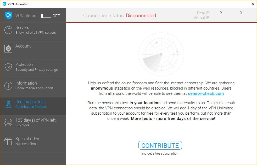 Censorship Test