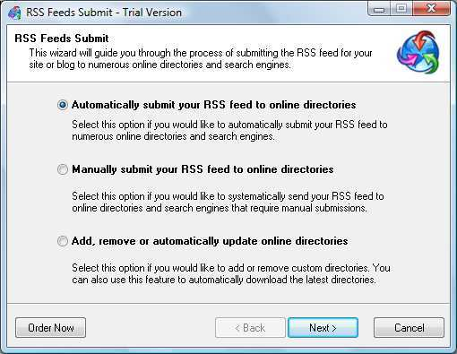 Feed Submit Wizard.