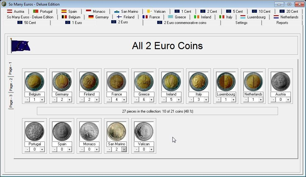 All 2 Euro Coins