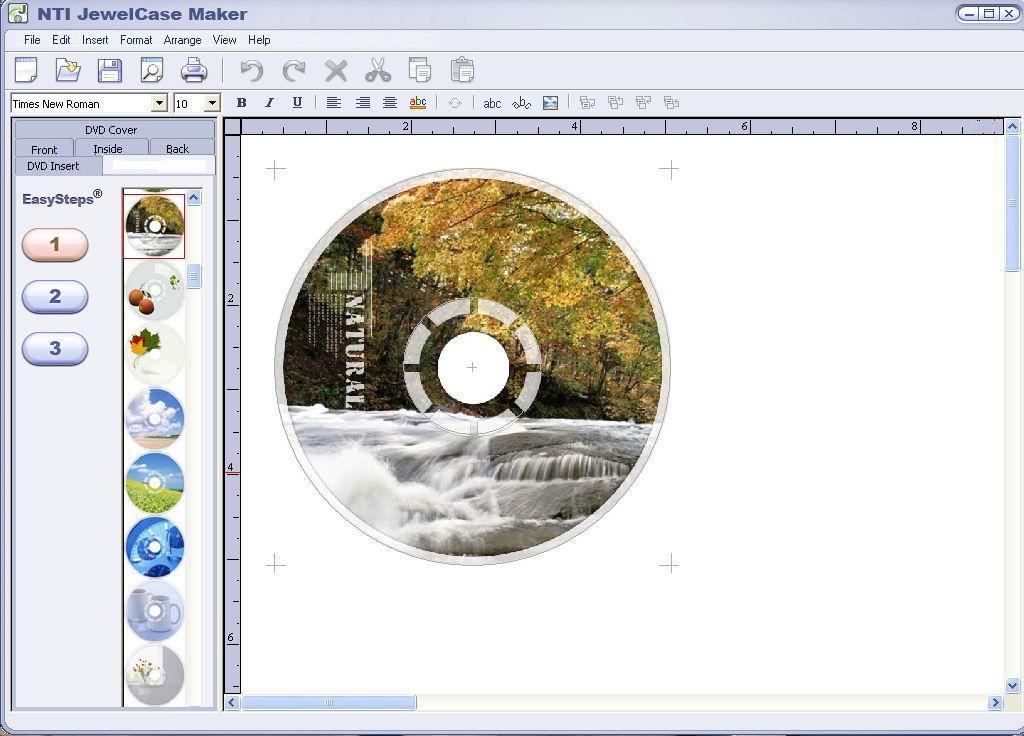 DVD label creation