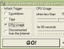 Schedule when to shutdown your computer by CPU usage