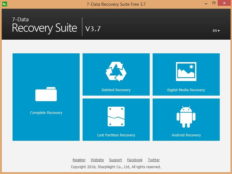 Recovery Suite Main Window