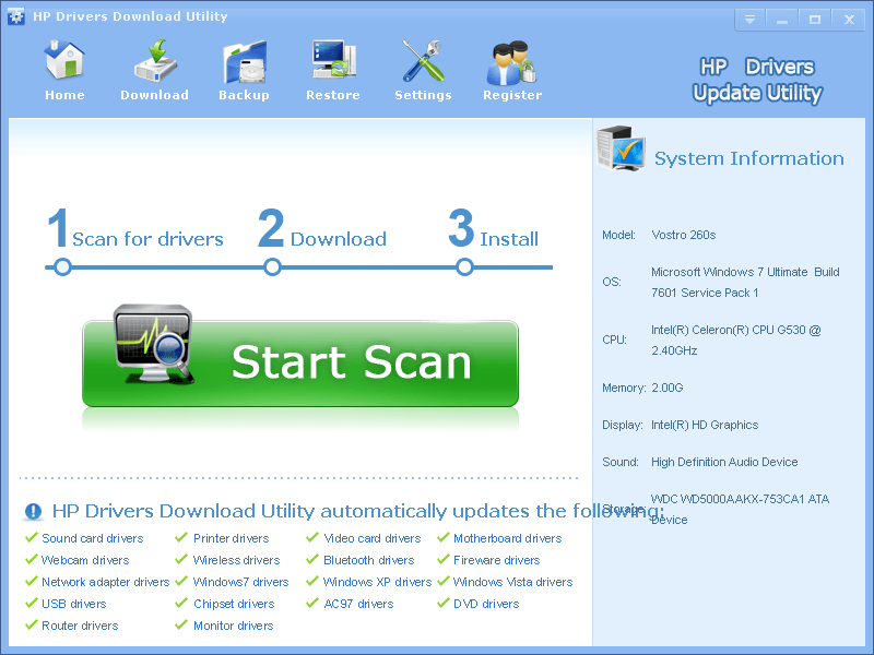 HP Driver Download Utiltiy