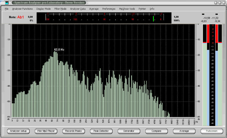 Spectrum Analyzer pro LE v3.2. . DTMF-Ton-Decoder PAS LE 3.2 Version. .