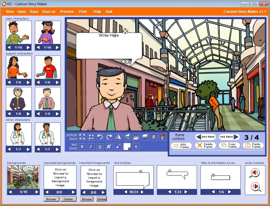 Cartoon Story Maker 1.1 : Adding Text bubble (Dialog Box)