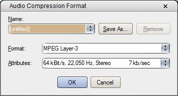 Audio Compression Settings