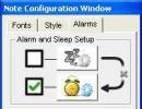 Alarm Configuration