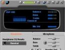 Audio control centre - full size