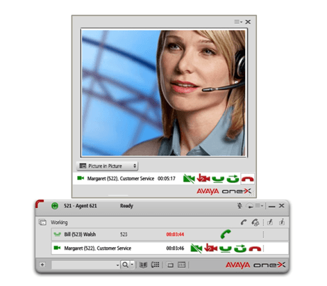 Avaya one x agent 2 5 main window
