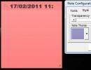 Note Configuration