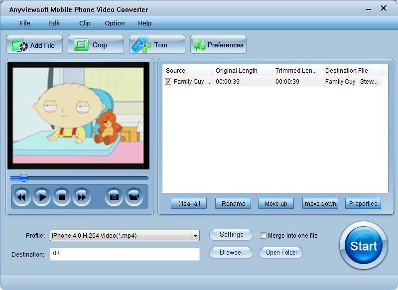 Anyviewsoft mobile phone video converter 3.2.12
