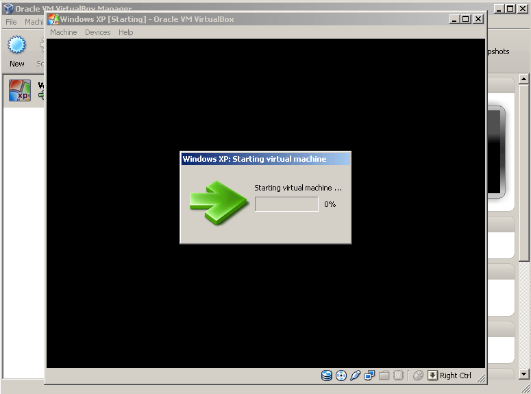 Virtual Machine Starting Up